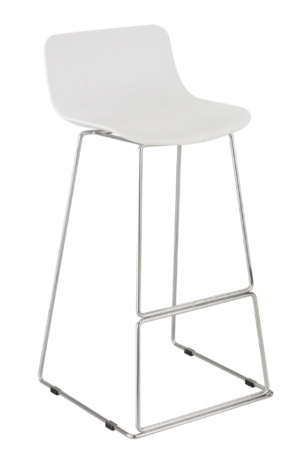 "Set of 2 High White Stools ""FILO"""